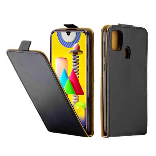 FORCELL Vyklápacie púzdro Samsung Galaxy M31 čierne