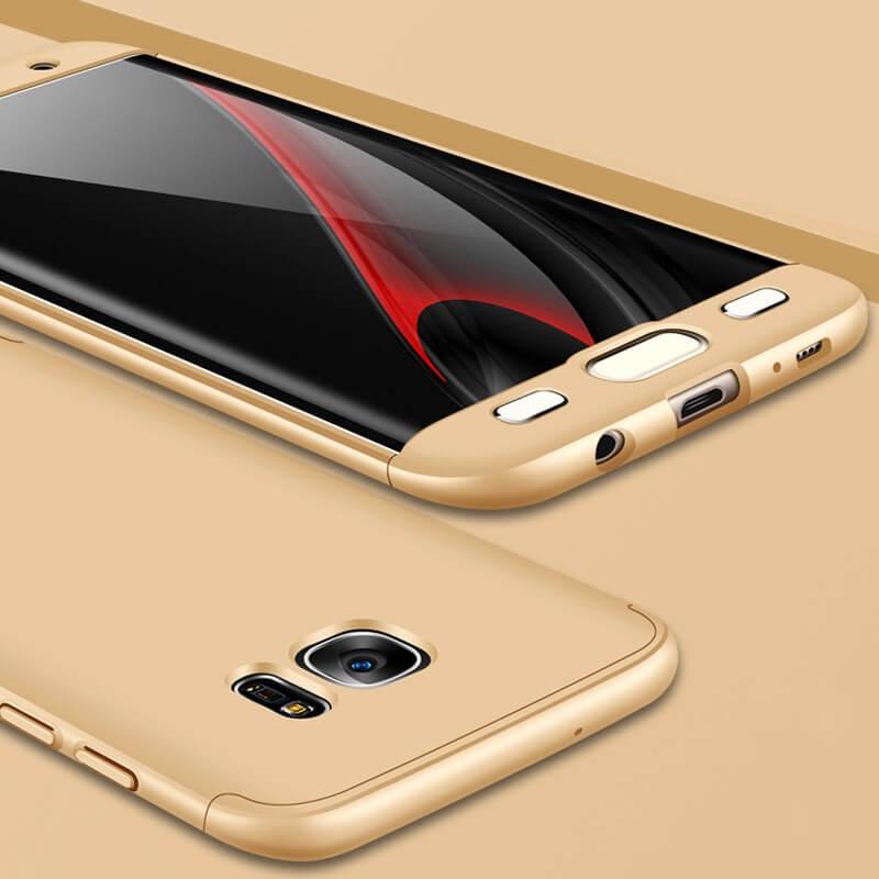 FORCELL 360 ° Ochranný kryt Samsung Galaxy S7 Edge zlatý