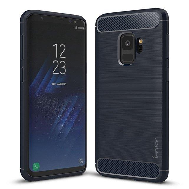 IPAKY SLIM CARBON obal Samsung Galaxy S9 modrý