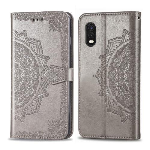 FORCELL ART Peňaženkový kryt Samsung Galaxy Xcover ProORNAMENT šedý