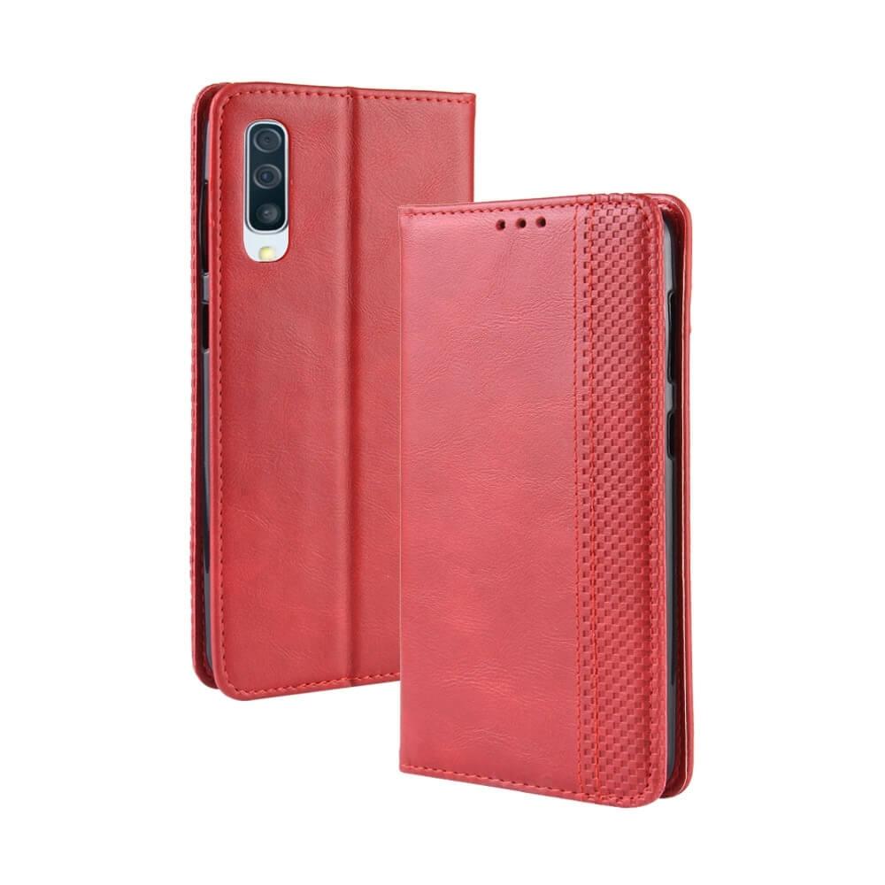 FORCELL BUSINESS Peňaženkový obal Samsung Galaxy A50 červený