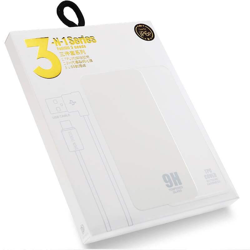 DUX 3v1 (sklo, obal, kabel) Apple iPhone 5 / 5S / SE průhledný
