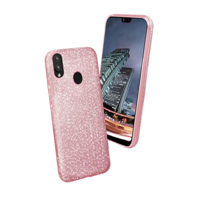 FORCELL SHINING Ochranný kryt Huawei P20 Lite růžový