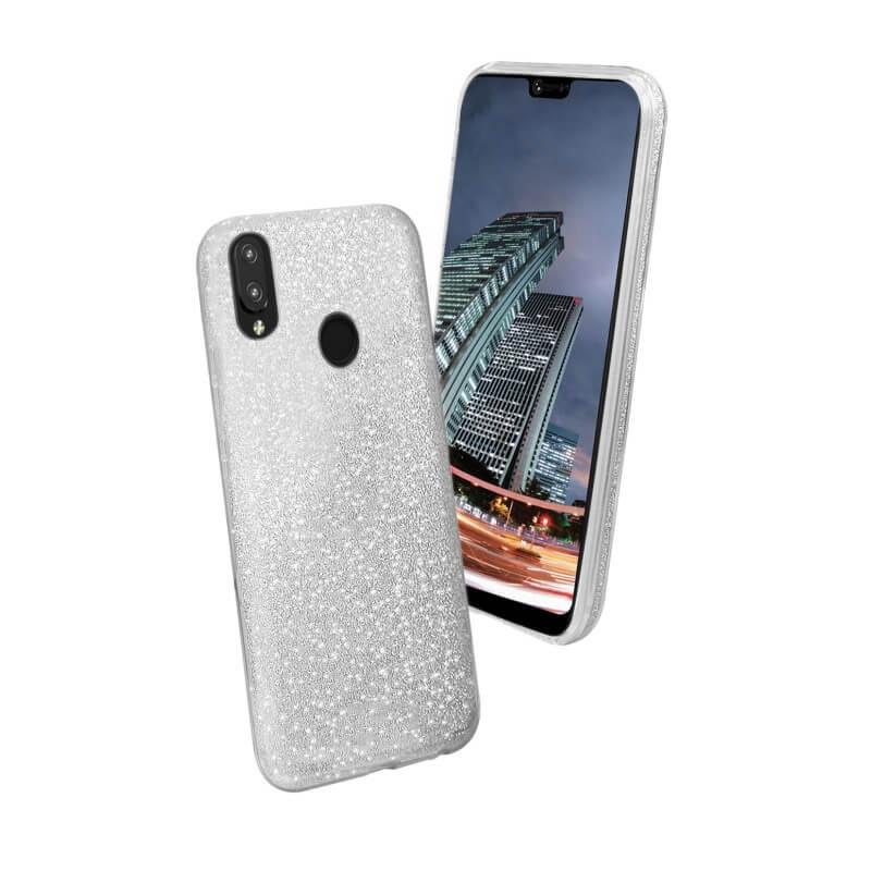 FORCELL SHINING Ochranný kryt Huawei P20 Lite stříbrný