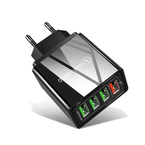 WOZINSKY Síťová nabíječka 4x USB QuickCharge 3.0 černá