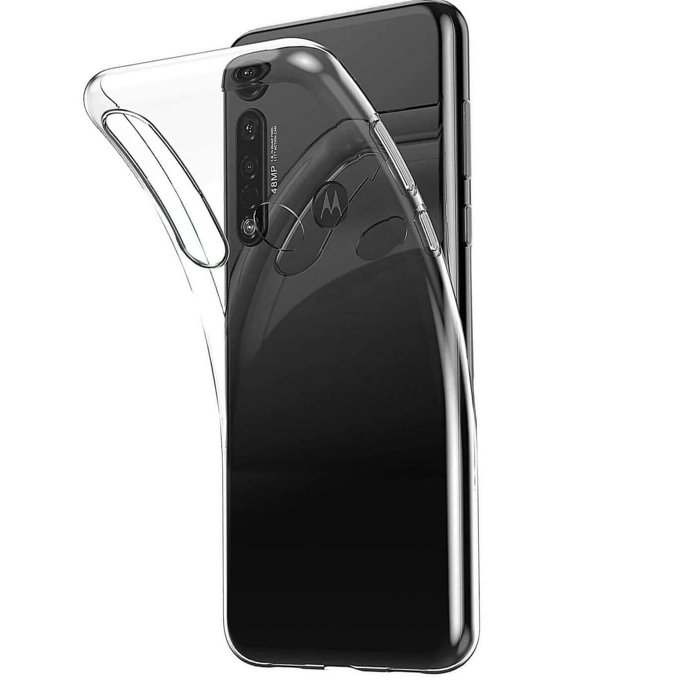 FORCELL Silikonový kryt Motorola Moto G8 průhledný