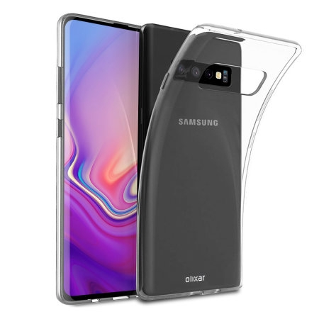 FORCELL Silikonový obal Samsung Galaxy S10 Plus průhledný