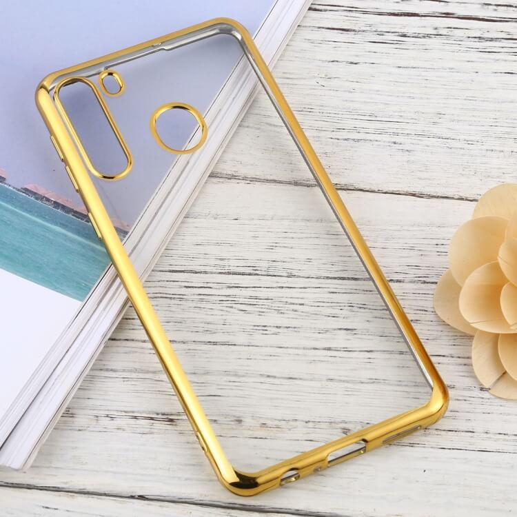 Levně FORCELL METALLIC Silikonový kryt Samsung Galaxy A21 zlatý