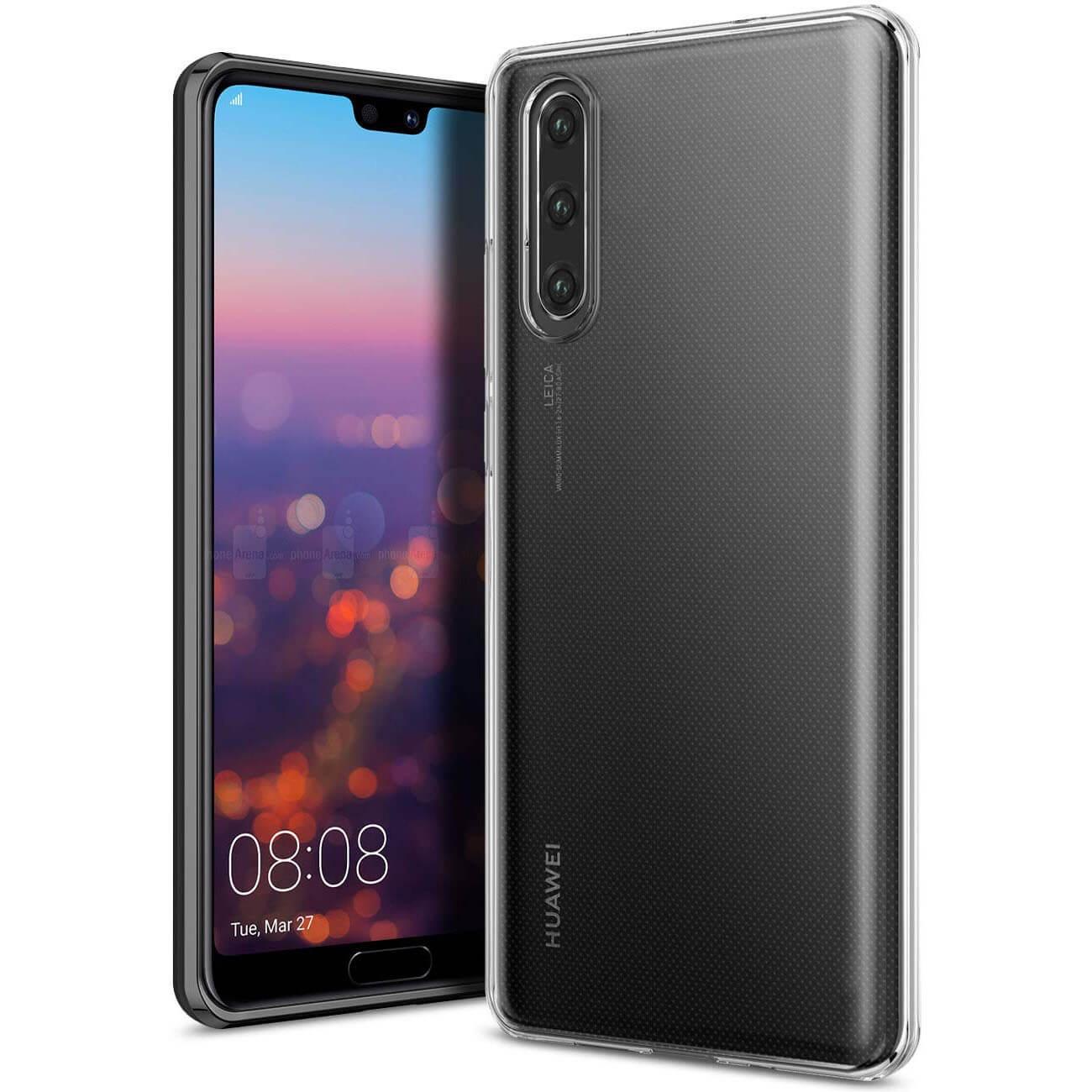 FORCELL Silikonový průhledný obal Huawei P30