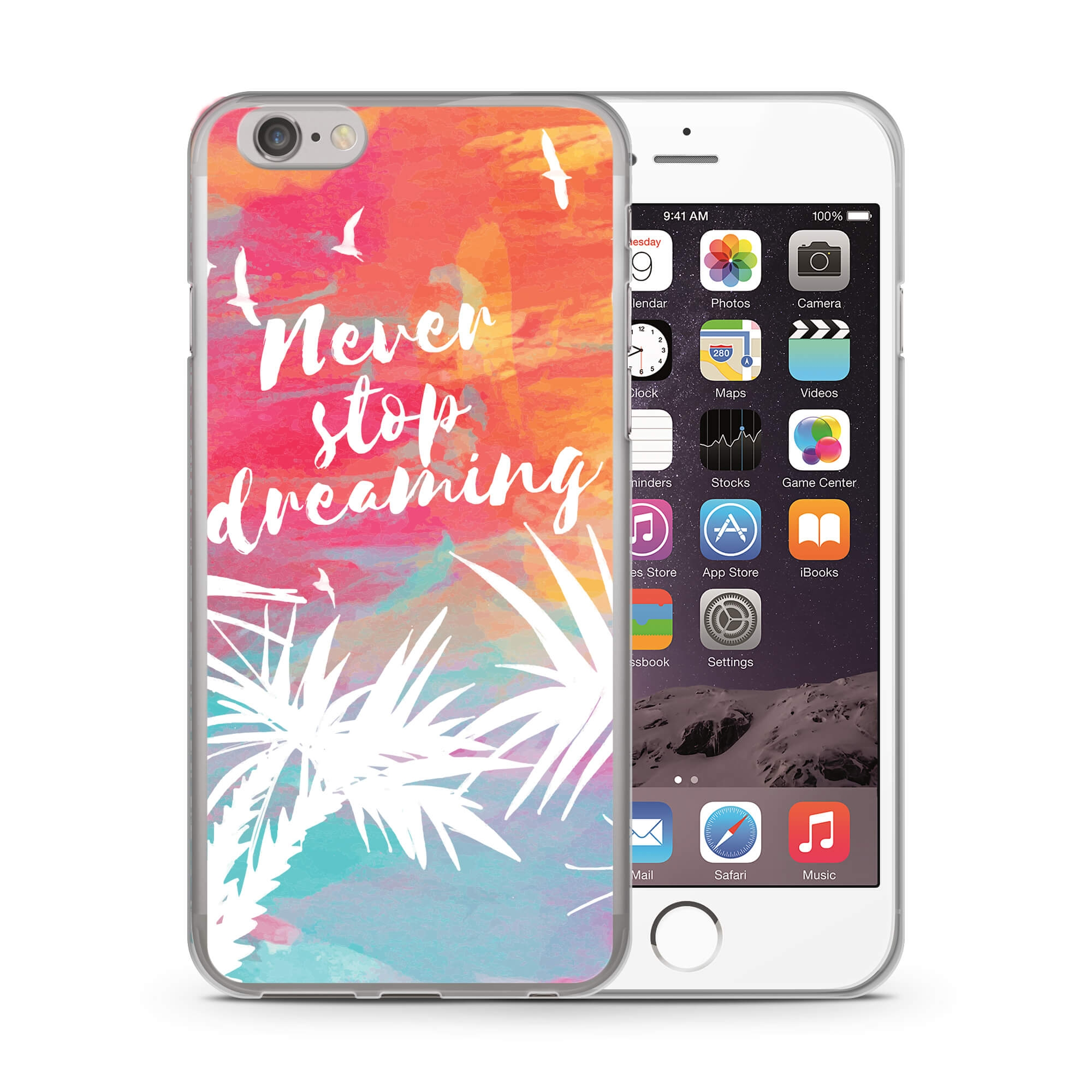 MY ART kryt Apple iPhone 6   6S RED NEVER STOP DREAMING (028) f65633a3bb8