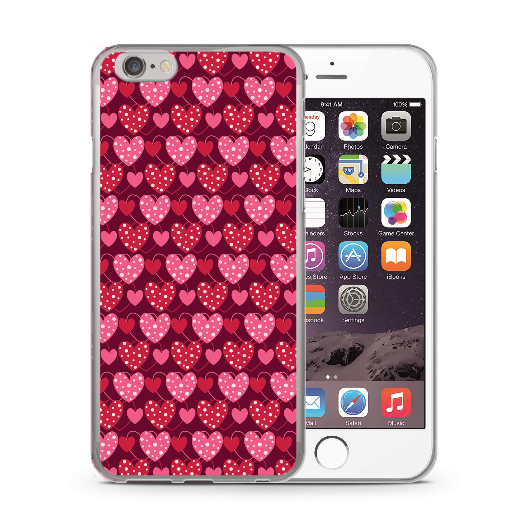 MY ART kryt Apple iPhone 6 Plus   6S Plus RED HEARTS (027) 31c2a92bea2