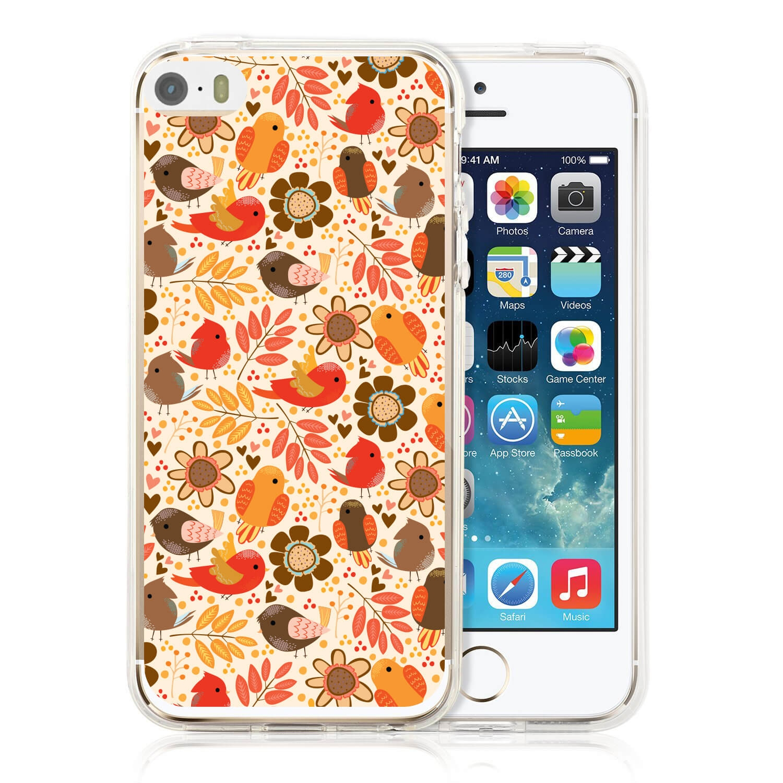 MY ART kryt Apple iPhone 5 / 5S / SE BIRDS (004)