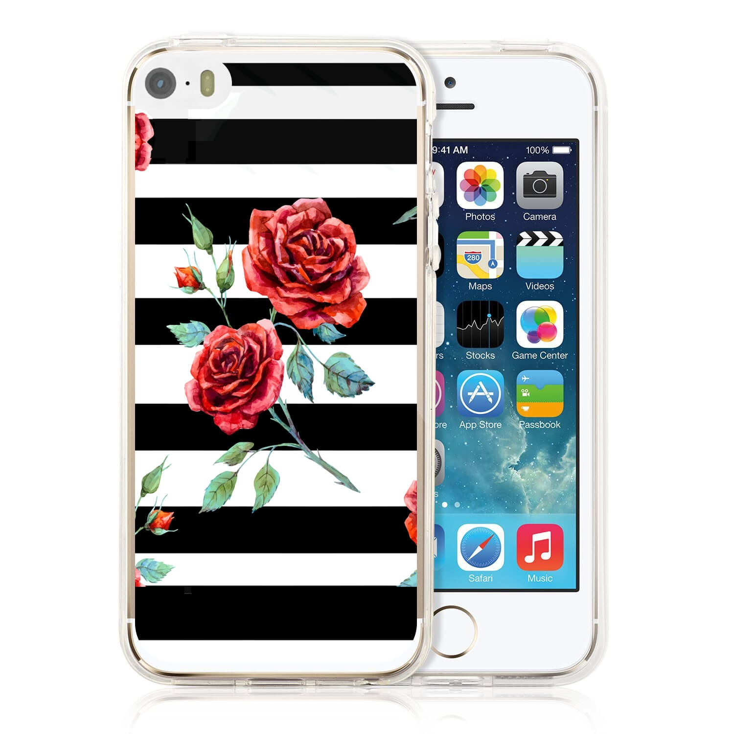 MY ART kryt Apple iPhone 5   5S   SE BLACK WHITE (034) 752dd76df9e