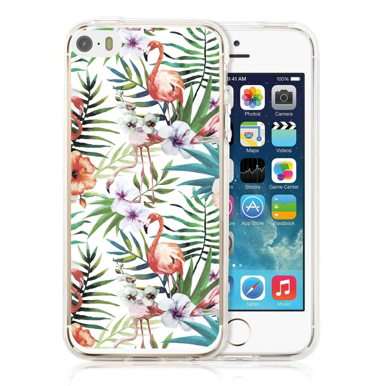 MY ART kryt Apple iPhone 5 / 5S / SE Flamingos (009)