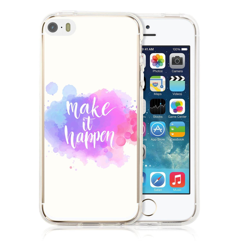 MY ART kryt Apple iPhone 5 / 5S / SE MAKE IT Happen (014)