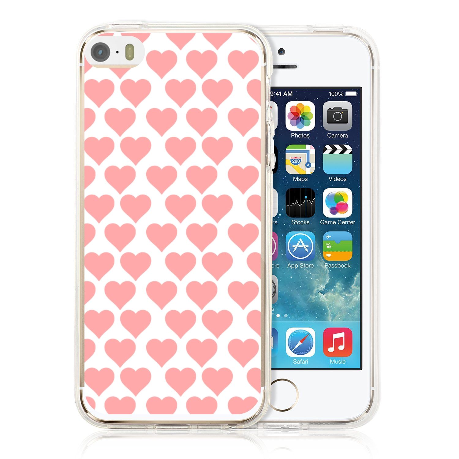 MY ART kryt Apple iPhone 5   5S   SE PINK HEARTS (013) 3318bfe86dc