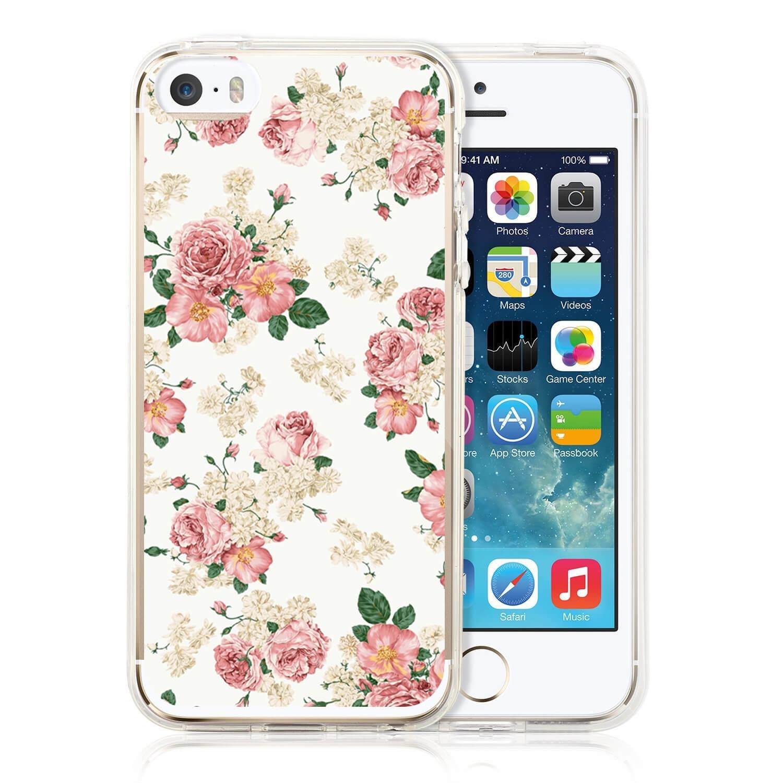MY ART kryt Apple iPhone 5 / 5S / SE PINK ROSES (016)
