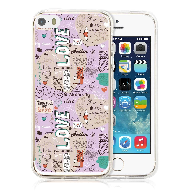MY ART kryt Apple iPhone 5 / 5S / SE WORDS (010)