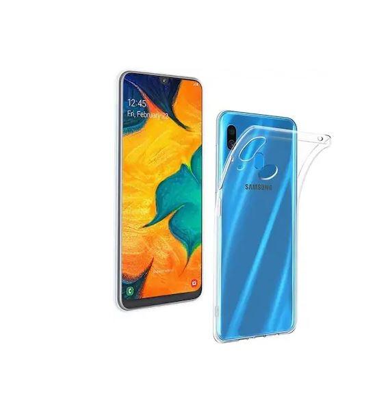 FORCELL Silikonový obal Samsung Galaxy A40 průhledný