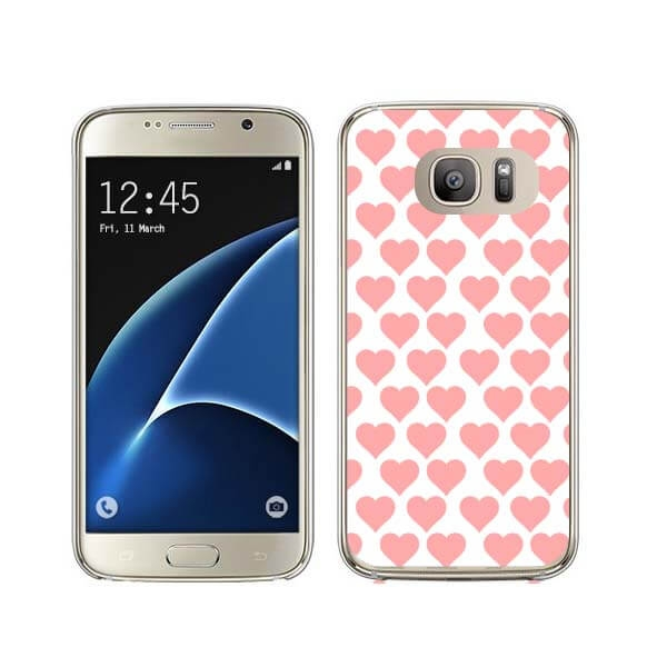 FORCELL MY ART kryt Samsung Galaxy S7 Edge PINK HEARTS (013)