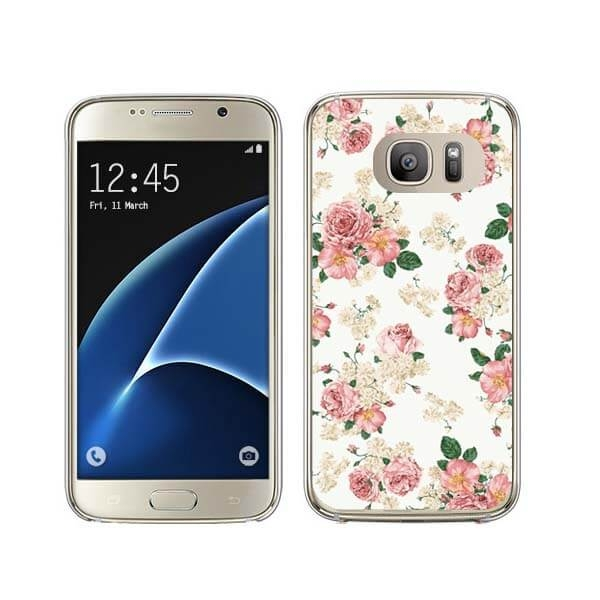 FORCELL MY ART kryt Samsung Galaxy S7 Edge PINK ROSES (016)