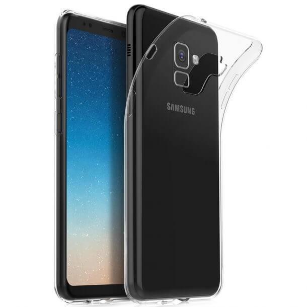 FORCELL Silikonový obal Samsung Galaxy Samsung Galaxy A8 2018 (A530)  průhledný eb4d4ed6ad0