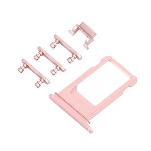 UNBRANDED SIM Slot + boční tlačítka - Apple iPhone 6S Plus - rose gold (růžová)