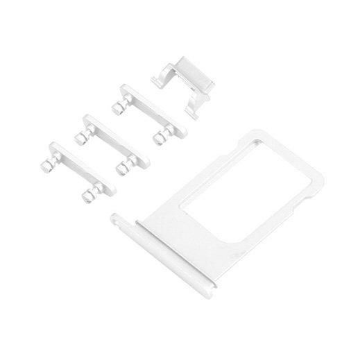 UNBRANDED SIM Slot + boční tlačítka - Apple iPhone 6S Plus - stříbrná