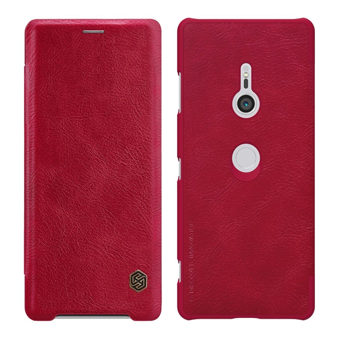 NILLKIN QIN flipový kryt Sony Xperia XZ3 červený