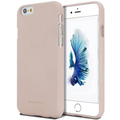 MERCURY SOFT FEELING obal Apple iPhone 5 / 5S / SE piesková ružová