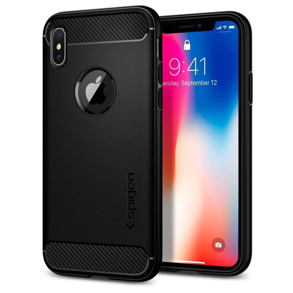 SPIGEN RUGGED ARMOR Apple iPhone X black