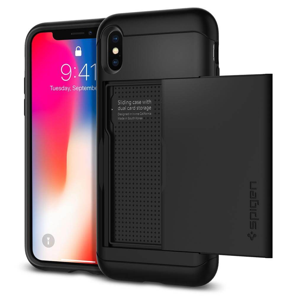 SPIGEN SLIM ARMOR CS obal Apple iPhone X black