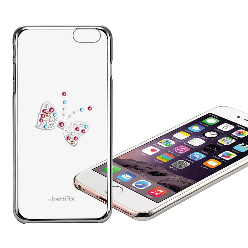 X-Fitted SWAROVSKI obal Apple iPhone 6 Plus / 6S Plus stříbrný (0057)