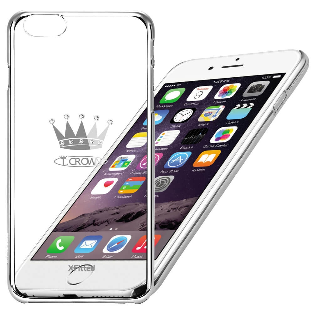 X-Fitted SWAROVSKI obal Apple iPhone 6 Plus / 6S Plus stříbrný (0102)