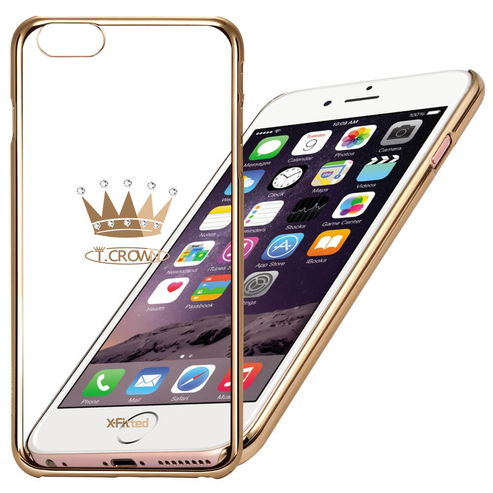 X-FITTED SWAROVSKI obal Apple iPhone 6 Plus / 6S Plus zlatý (0104)