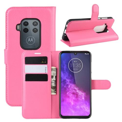 FORCELL Litchi Peňaženkové pouzdro Motorola One Zoom růžové