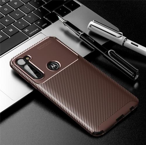 FORCELL BEETLE TPU obal Motorola One Fusion + hnědý