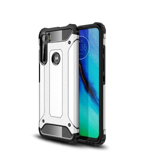 FORCELL TOUGH Ochranný kryt Motorola One Fusion + stříbrný