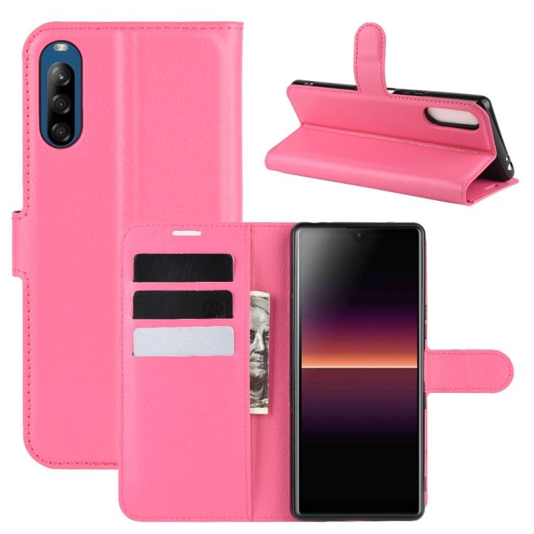 FORCELL LITCHI Peňaženkový kryt Sony Xperia L4 růžový