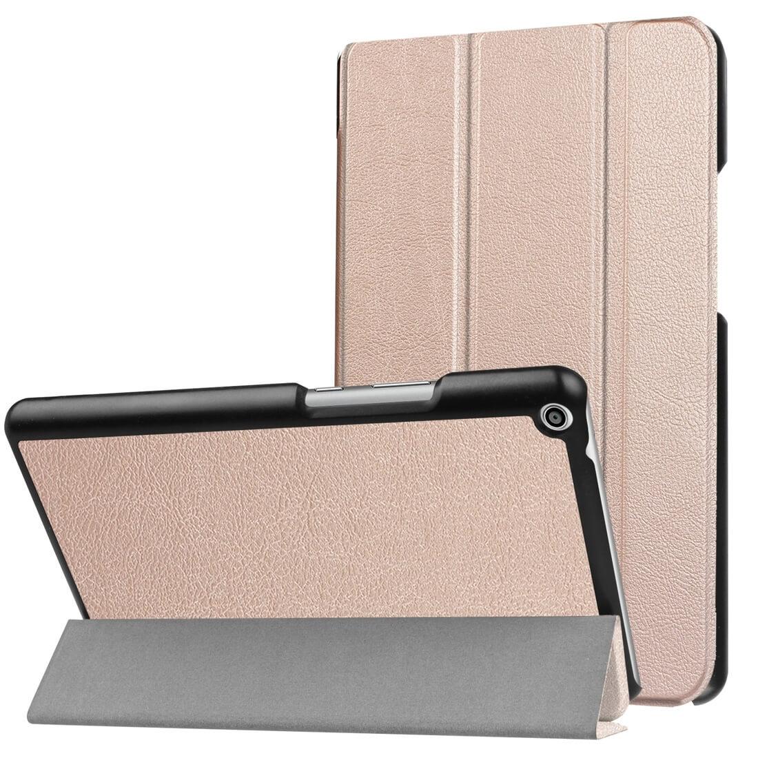 """FORCELL LEATHER zaklapovací obal Huawei MediaPad T3 10 """"zlatý"""