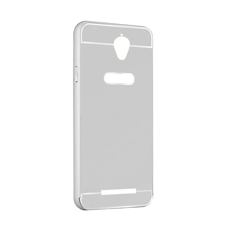 "FORCELL Ochranný zrcadlový obal Asus ZenFone Go 4,5 ""(ZC550TG) stříbrný"