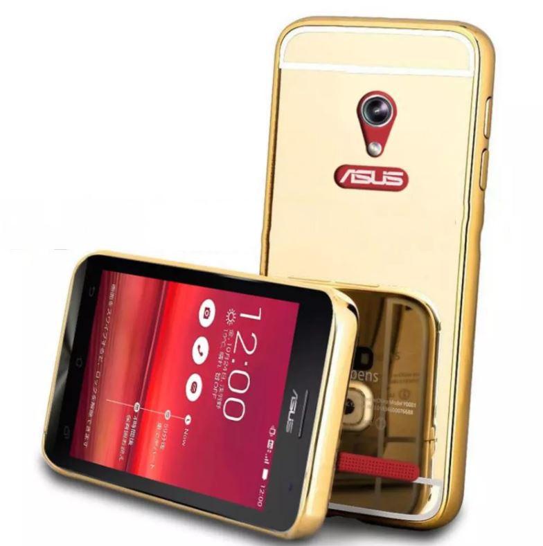 """FORCELL Ochranný zrcadlový obal Asus ZenFone Go 4,5 """"(ZC550TG) zlatý"""