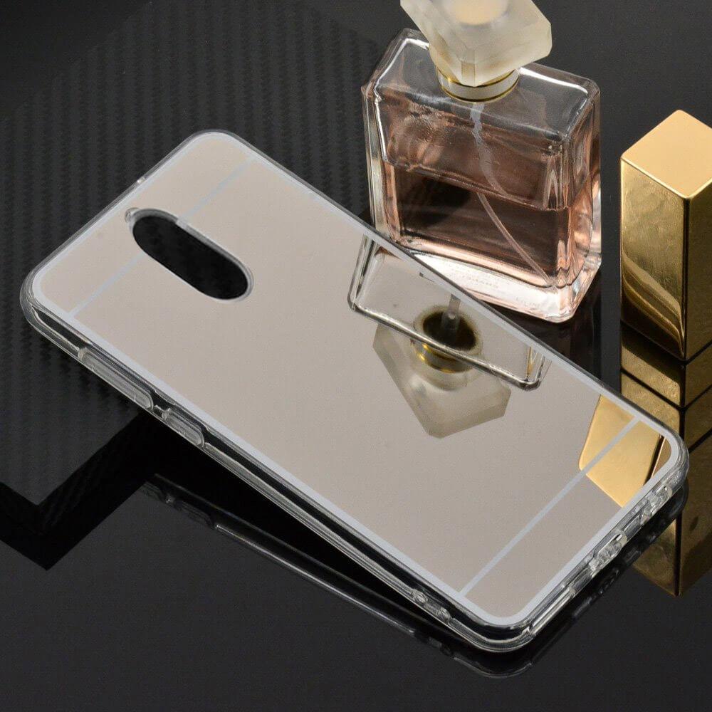 FORCELL Zrcadlový silikonový obal Huawei Mate 10 Lite stříbrný
